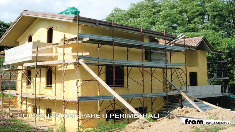 Coibentazione pareti perimetrali casa