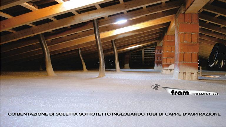 Isolamenti termici solette sottotetto con poliuretano